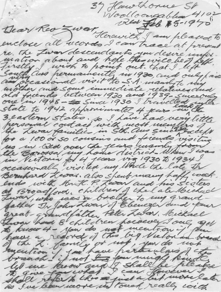 Zwar original Letter
